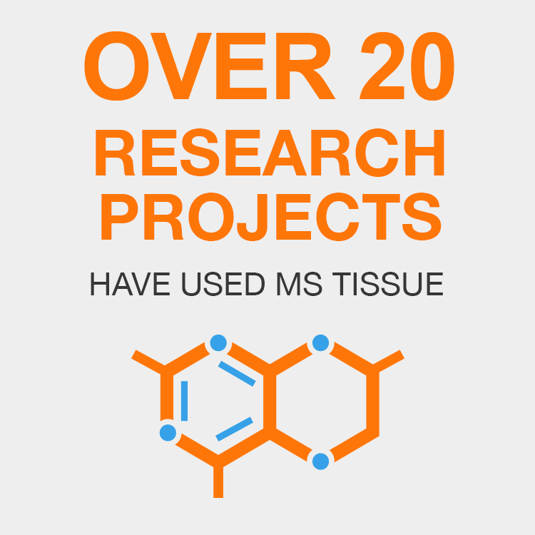 OVER 20 Research Projects Have Used MS Tissue